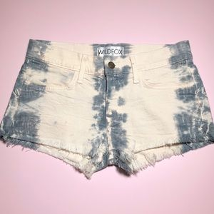 Wildfox tie dye ombré shorts